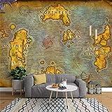Papier peint 3d photo mural poster Salon intissé Mode Élégant Fond D'écran Carte Ancienne Européenne Jeu En Ligne World of Warcraft Carte Arrière-Plan 210Cm(W)×140Cm(H)