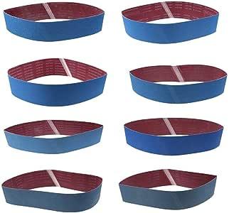 Lot de 12 bandes abrasives 100 x 915 mm Grain 40 /à K400
