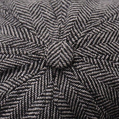 hjuns - Casquette souple - Homme Multicolore Bigarré - BlackGray