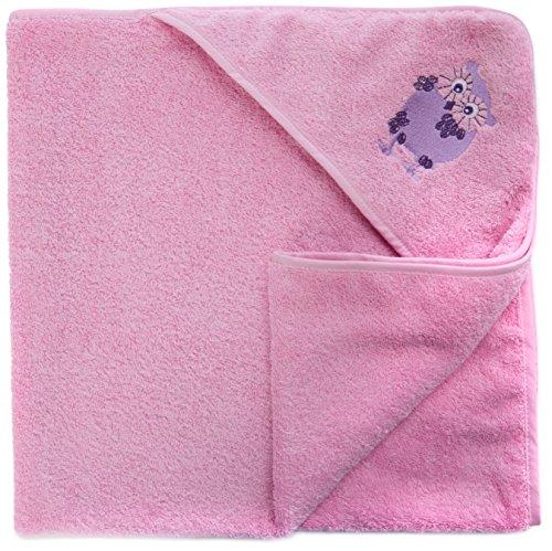 Care Baby - Mädchen Bademantel, Einfarbig, Gr. One size (Herstellergröße: 83X83), Rosa (Rose 560)