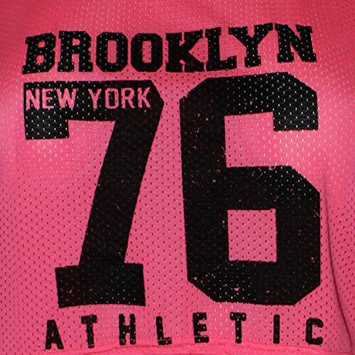 Chocolate Pickle ® Damen Neon Farbig Air Tech Brooklyn New York 76 Anzahl  ausdrucken Crop Oberteile 3642 Neon Pink