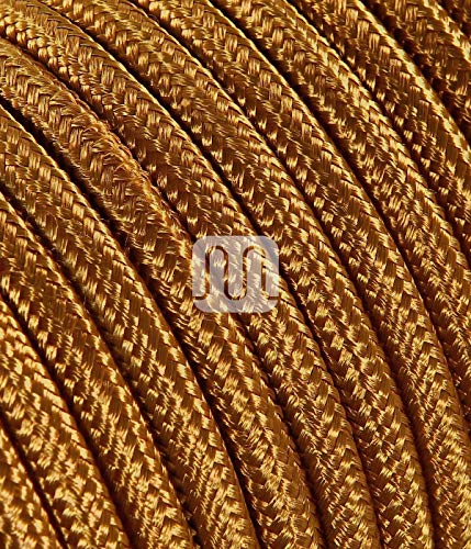 Textilkabel für Lampe 1 Meter 2 Adrig whisky ( 2x0,75mm2 ) SuperFlex | Textilummanteltes Stoffkabel zum bau dekorativer Textilkabellampen | Zuleitung für Lampe | elektrische Leitung | Pendelleuchten | Hängelampen