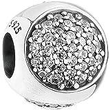 PANDOCCI 2017 autunno abbagliante gocciolina chiara CZ perline 925 argento sterling misura fai da te per i monili originali d