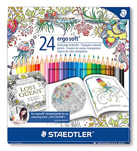 Price comparison product image Staedtler 157 C24JB Ergosoft Colouring Pencils with Johanna Basford Packaging - Assorted, Pack of 24