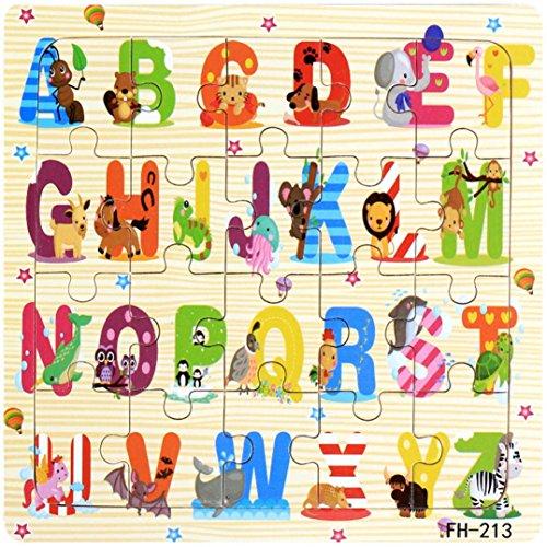 Puzzles de Madera, Desarrollo Educativo Bebé Niños Juguete Regalo