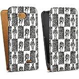 LG L70 Tasche Schutz Hülle Walletcase Bookstyle Zebra Animal Print Muster
