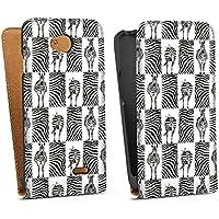 LG L70 Tasche Hülle Flip Case Zebra Animal Print Pattern
