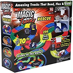 Magic Tracks Rescue Set Glows In The Dark Ages 3 Years+ - Recreation