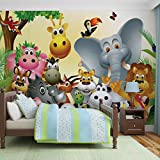 Papier Peint Photo Mural 693P4 - Collection Animaux/Faune - XL - 254cm x 184cm - 2 Part(s) - Imprimé sur 115g/m2 papier mural