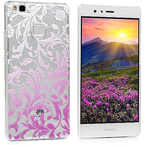 Huawei P9 Lite Funda Cubierta - Lanveni Elegante Carcasa Rigida PC ultra delgada para Huawei P9 Lite Translúcido Protective Case Cover - Patrón gradiente Flores Diseño