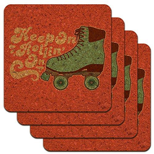 Rollschuhe Derby Keep On Rolling Skaten Low Profile Neuheit Cork Untersetzer Set