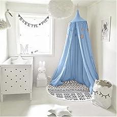Betthimmel Für Kinder , Moskitonetz Aus Baumwolle Zum Aufhängen, Spiel  Und  Lesezelt Für Innen
