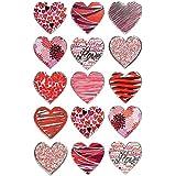 Avery Zweckform 57521 Deko Sticker Herzen (Effektfolie) 15 Aufkleber