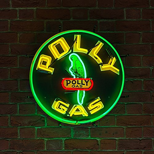 pub-bar-office-kitchen-club-mancave-petrol-station-green-and-yellow-polly-gas-real-neon-light-not-le