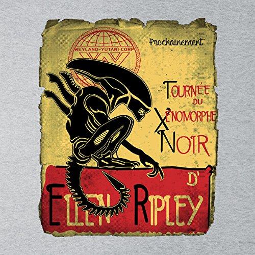 Tournee Du Xenomorphe Noir D Ellen Ripley Alien Men's Vest Heather Grey