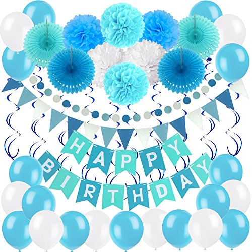 40 pieces party birthday decoration set ayam happy birthdays banner
