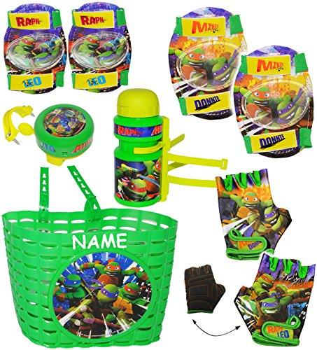 Preisvergleich Produktbild alles-meine.de GmbH Fahrradtrinkflasche - Teenage Mutant Ninja Turtles - incl. Name - 360 ml - mit Halterung / Halter für Kinder Fahrradflasche - Fahrrad Trinkflasche - unive..