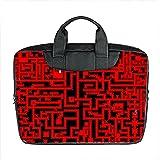 Benutzerdefinierte 15 Zoll importiert Nylon wasserdicht Stoff Laptop tragbare Schulter Messenger Bag Diy Roter Irrgarten Design