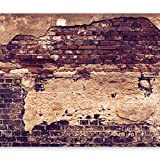 murando - Vlies Fototapete 400x280 cm - Vlies Tapete - Moderne Wanddeko - Design Tapete - Ziegel Ziegelstein f-A-0503-a-d