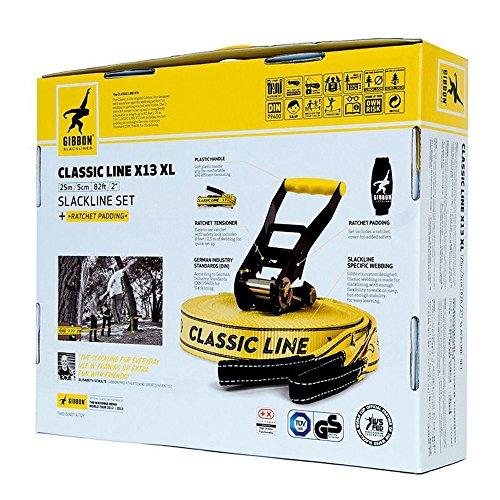Gibbon Slackline Set Classic Line X13 XL, 25 m lang, 5 cm breit - 8