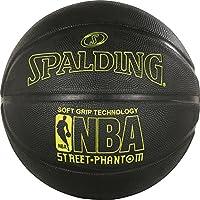Spalding 3001550010017 Ballon de Basket Mixte Adulte, Noir/Jaune Fluo, Taille 7
