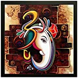 #9: SAF 'Ganesha' Framed Painting (Wood, 30 cm x 3 cm x 30 cm, Special Effect Textured)