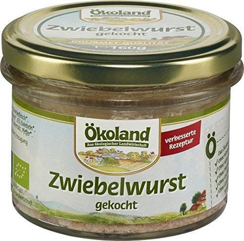 Ökoland Bio Zwiebelwurst gekocht Gourmet-Qualität (6 x 160 gr)