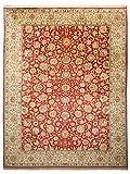 Morgenland Seidenteppich Kaschmir Reine Seide 334 x 256 cm Rot Handgeknüpft