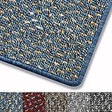 Teppich fröhlich gepunktet | Qualitätsprodukt aus Deutschland | GUT-Siegel | viele Farben und Größen (blau, 66x130cm)