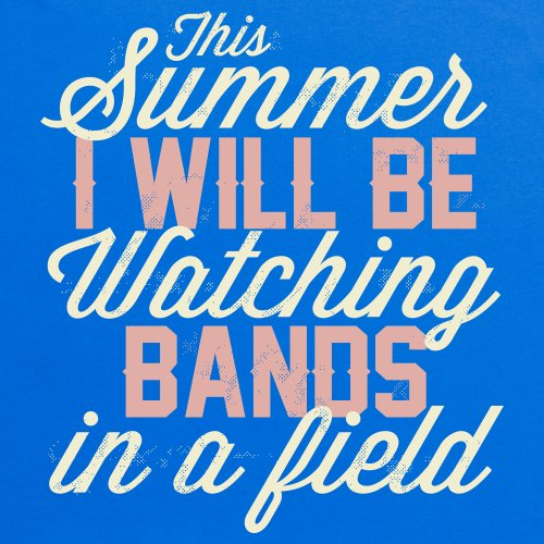 Bands In A Field Festival T-Shirt, Herren Royalblau