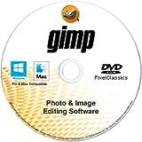 GIMP Photo Editor 2021 Premium Professional Image Editing Software CD Compatible with Windows 10 8.1 8 7 Vista XP PC 32…