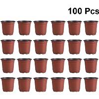 Porta vaso rotondo Ø 44 H 37 cm PLASTICA TORTORA FIORI VASO PORTAVASI grandi esterno