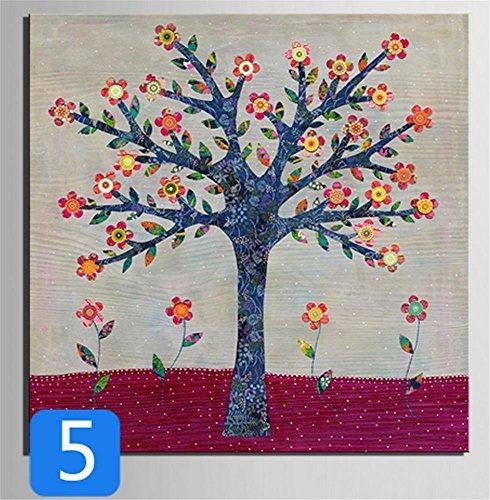 xiuxiandianju-peintures-peinture-creative-larbre-fleur-serie-decorative-giclee-toiles-frameless-sur-