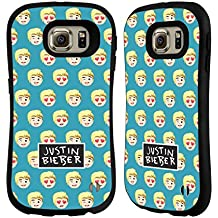 Official Justin Bieber Patterns Justmojis Hybrid Case for Samsung Galaxy S6