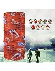 Rare 10 pcs en caoutchouc multifonctionnel Seamless Magic Scarf Headbands doux et confortables coupe-vent rapide sec