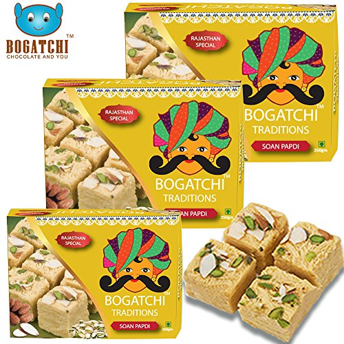 Bogatchi Soan Papdi, 250g (Pack of 3)
