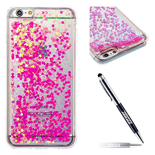 iPhone-6S-Plus-Custodia-iPhone-6-Plus-Cover-TPU-Silicone-JAWSEU-Apple-iPhone-6S-Plus-55-Copertura-Liquida-Sequin-Glitter-Flowing-Quicksand-3D-Shinny-Scintillio-Sparkle-Bling-Cover-per-iPhone-66S-Plus-