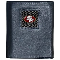 NFL San Francisco 49Ers Leather Gridiron Tri-Fold Wallet