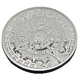 Pinzhi 1X oro plateado calendario azteca maya conmemorativo moneda recuerdo colección regalo