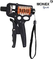 Monex Sports Hand Grip Strengthener Forearm Wrist Muscle Trainer Adjustable Resistance 25-50kg Hand Exerciser Non-slip Gripper for Athletes Pianists