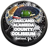 Paragon NFL Oakland Raiders Alameda Coliseum Fb in 5,1cm magnetisiert Briefbeschwerer aus Kristall mit bunten Fenster-Geschenkbox