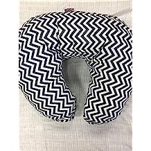 Suave de lactancia embarazo almohada/cojín/cuña–Color Azul Marino y Blanco Chevron–con funda acolchada) & Extra acolchado