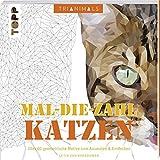 Trianimals. Mal-die-Zahl: Katzen: 60 geometrische Motive zum Ausmalen und Entdecken. Mit Masken zum Heraustrennen.