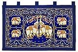 Wandbehang Wandteppich Wandkissen Drache Elefant Handarbeit Gobelin Thailand, verschiedene Motive und Größen erhältlich (16336 (Elefanten))