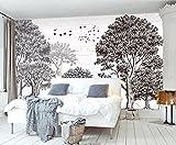 Wh-Porp 3D Wallpaper Custom Wallpaper Einfache Skizze Geld Baum Nordic Tv Hintergrund Wand Wohnzimmer Schlafzimmer Hintergrund Wandbilder-400Cmx280Cm