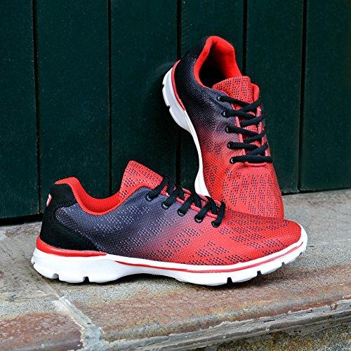 QANSI Scarpe da corsa Uomo Scarpe Da Sportive Running Basket Sneakers Nero Grigio Blu Rosso Rosso