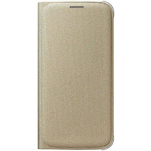 Samsung Fabric Folio Wallet Schutzhülle Case Cover mit Kreditkartenfach für Galaxy S6, gold (Samsung Galaxy S6 Wallet Case)