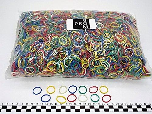 Progom - Gomas Elasticas - 25(ø16)mm x 1.7mm - colores mezclados (rojo, verde, azul, blanco, amarillo,negro) - bolsa de 1kg