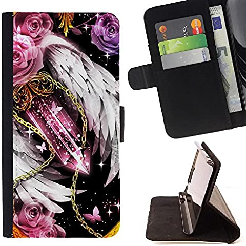 Microsoft Lumia 532 , Cristallo di ghiaccio pera collana di diamanti - Portafoglio in pelle della Carta di Credito fessure PU Holster Cover in pelle case