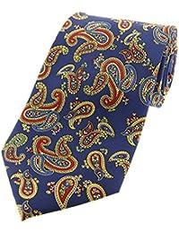 Soprano Corbata con estampado vintage de cachemir en azul 0885ca3b66c